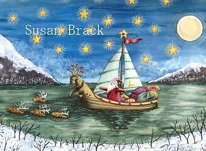 Art: DEER CROSSING by Artist Susan Brack