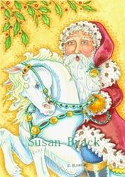 Art: SANTA'S STEED by Artist Susan Brack