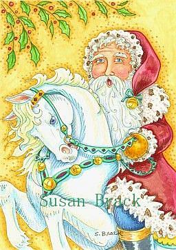 Art: SANTA'S STEED by Artist Susan Brack