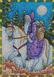 Art: WINTER'S JOURNEY - Needlepoint Tapestry Rug by Artist Susan Brack