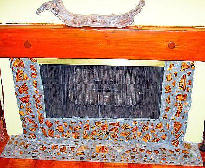 Art: Moroccan Fireplace by Artist Kathabela Wilson