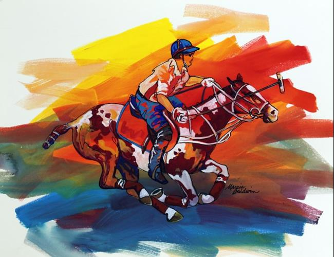 Art: POLO SKETCH 2 ~ COMMISSIONED by Artist Marcia Baldwin