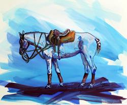 Art: POLO SKETCH 3 ~ COMMISSIONED by Artist Marcia Baldwin