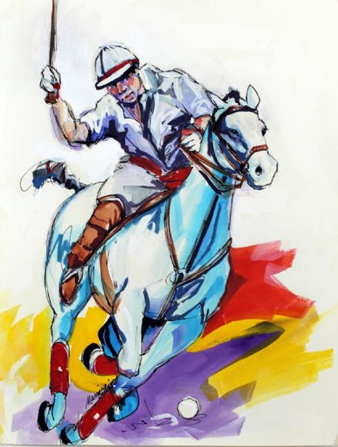 Art: POLO SKETCH 7 ~ COMMISSIONED by Artist Marcia Baldwin