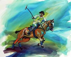 Art: POLO SKETCH 5 ~ COMMISSIONED by Artist Marcia Baldwin