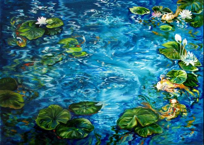 Favorite art of marcia baldwin currently viewing koi pond for Koi pool paint