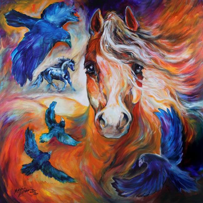 Art: SPIRIT VISION by Artist Marcia Baldwin
