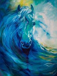 Art: BLUE GHOST EQUINE OCEAN by Artist Marcia Baldwin