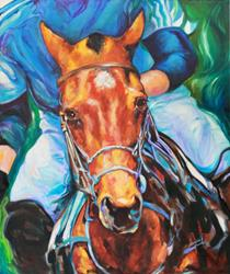 Art: COMMISSIONED POLO HORSE COVER ART by Artist Marcia Baldwin