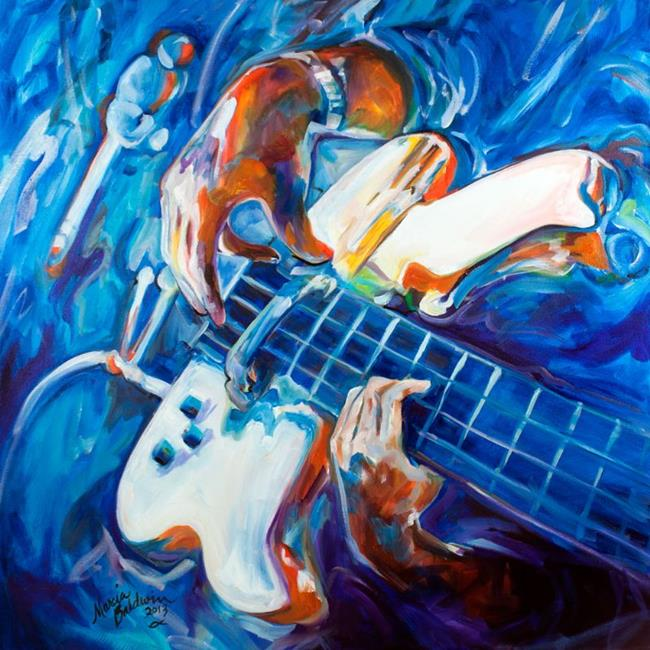 Art: GUITARMAN for NIKKI by Artist Marcia Baldwin