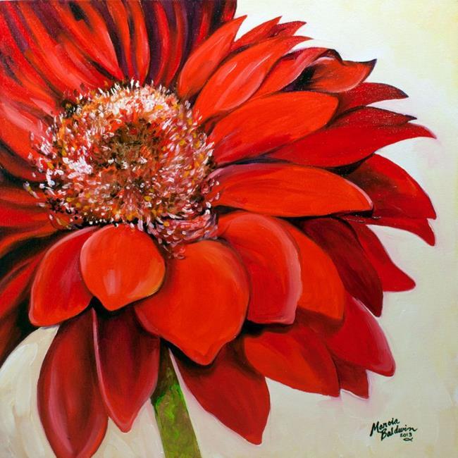 Art: RED DAISY for DAWN by Artist Marcia Baldwin