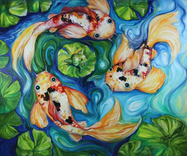 Art: KOI TOY COMMISSIONED by Artist Marcia Baldwin
