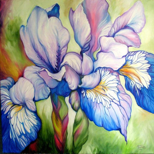 Art: WILD IRIS ABSTRACT ~ COMMISSIONED by Artist Marcia Baldwin