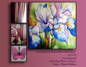 Detail Image for art WILD IRIS ABSTRACT ~ COMMISSIONED