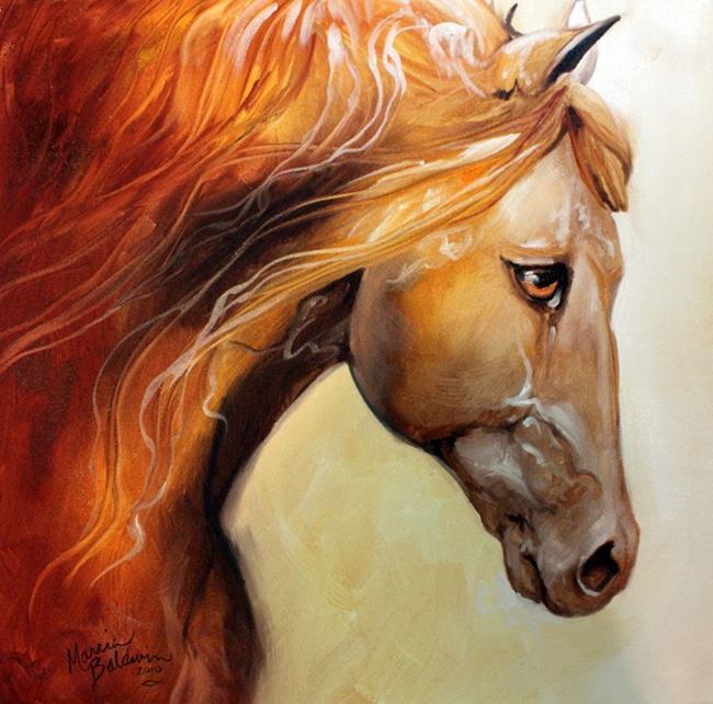 Art: THE GOLDEN an Equine Art Original by Artist Marcia Baldwin