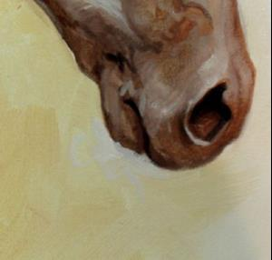 Detail Image for art THE GOLDEN an Equine Art Original