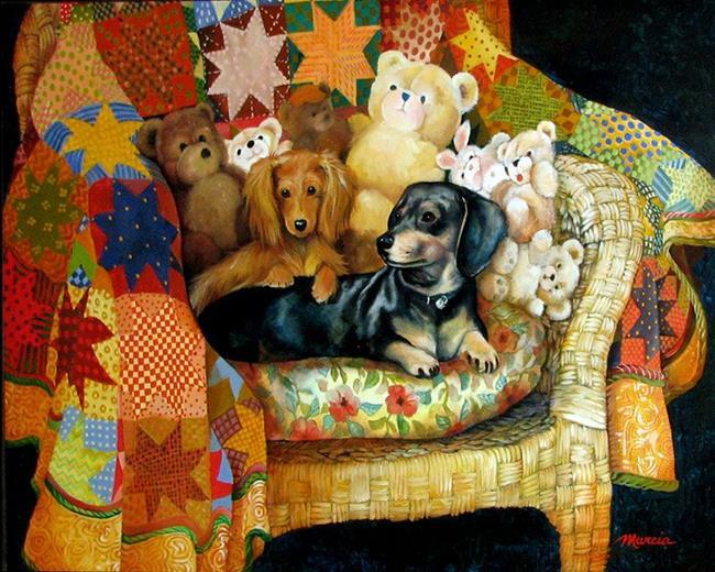 Art: Commission A Portrait by M Baldwin by Artist Marcia Baldwin