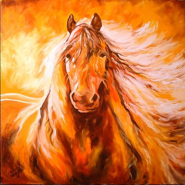 Art: ABSTRACT STALLION COMMISSION by Artist Marcia Baldwin