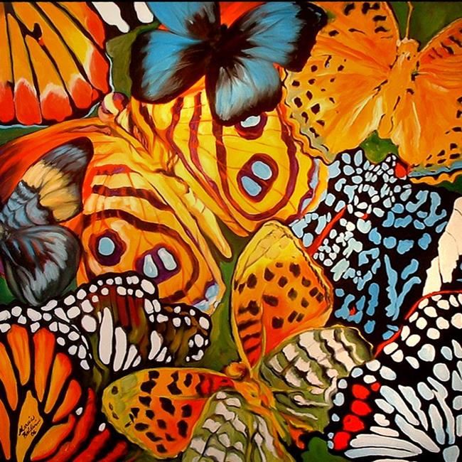 Art: BUTTERFLY ABSTRACT by Artist Marcia Baldwin