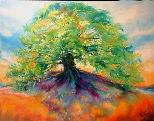 Art: OLD OAK TREE III by Artist Marcia Baldwin