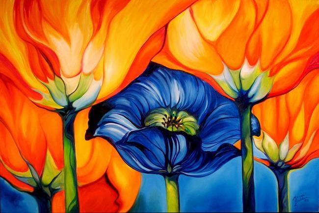 Art: MIDNIGHT POPPY by Artist Marcia Baldwin