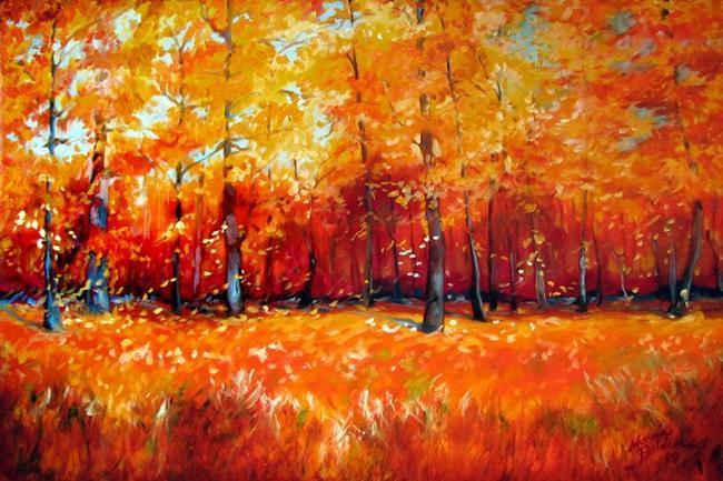 Art: FALL TREE LANDSCAPE COMMISSION by Artist Marcia Baldwin
