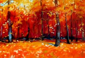 Detail Image for art FALL TREE LANDSCAPE COMMISSION
