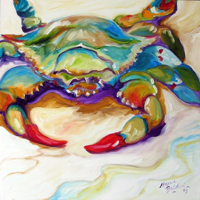 Art: BLUE CRAB  by Artist Marcia Baldwin