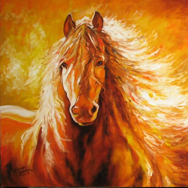 Art: ABSTRACT STALLION COMMISSIONED by Artist Marcia Baldwin