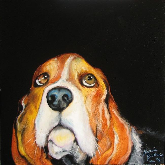 Art: I'M SORRY BASSETT HOUND by Artist Marcia Baldwin