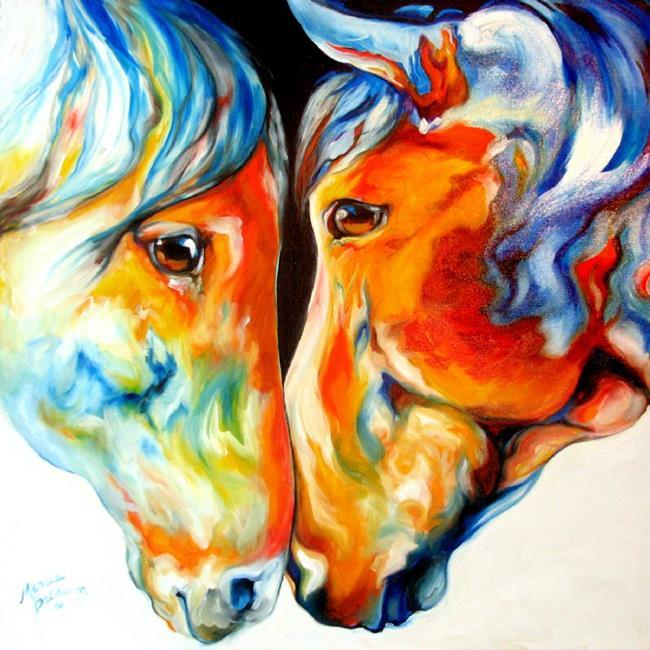 Art: PASO FINO FRIENDS  by Artist Marcia Baldwin