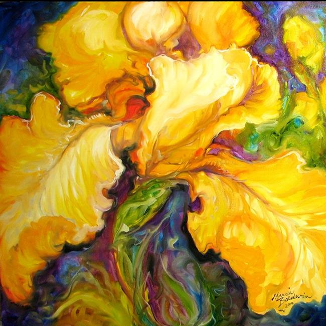 Art: YELLOW IRIS ABSTRACT by Artist Marcia Baldwin