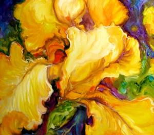 Detail Image for art YELLOW IRIS ABSTRACT