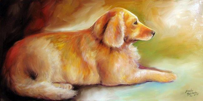 Art: GOLDEN RETRIEVER SUNLIT by Artist Marcia Baldwin