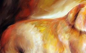 Detail Image for art GOLDEN RETRIEVER SUNLIT