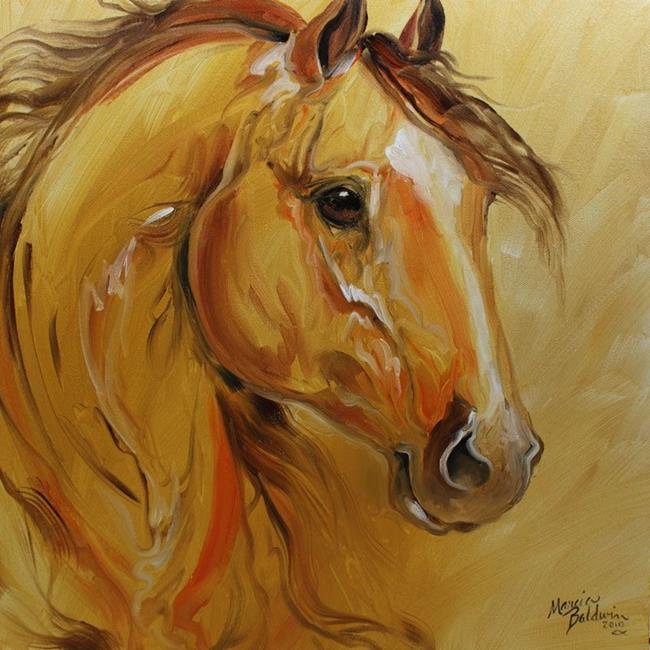 Art: GOLD DUST EQUINE by Artist Marcia Baldwin