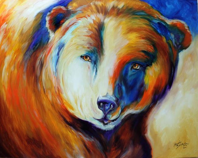 Art: BEAR ~ Commissioned Oil Original by Artist Marcia Baldwin
