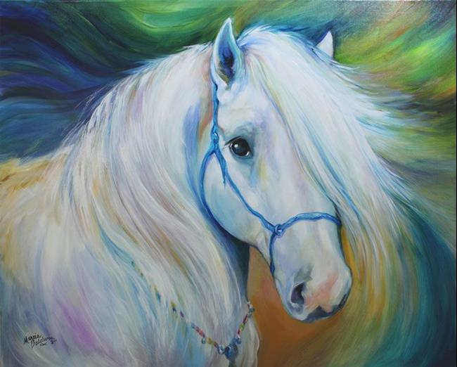 Art: MADDIE the ANGEL HORSE by Artist Marcia Baldwin