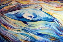 Art: MINKE WHALE PROJECT COMMISSIONED ~ SOLD by Artist Marcia Baldwin