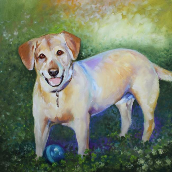 Art: BELOVED PET PORTRAIT ~ LAB by Artist Marcia Baldwin