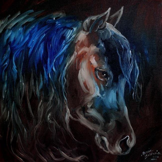 Art: DARK NIGHT EQUINE by Artist Marcia Baldwin