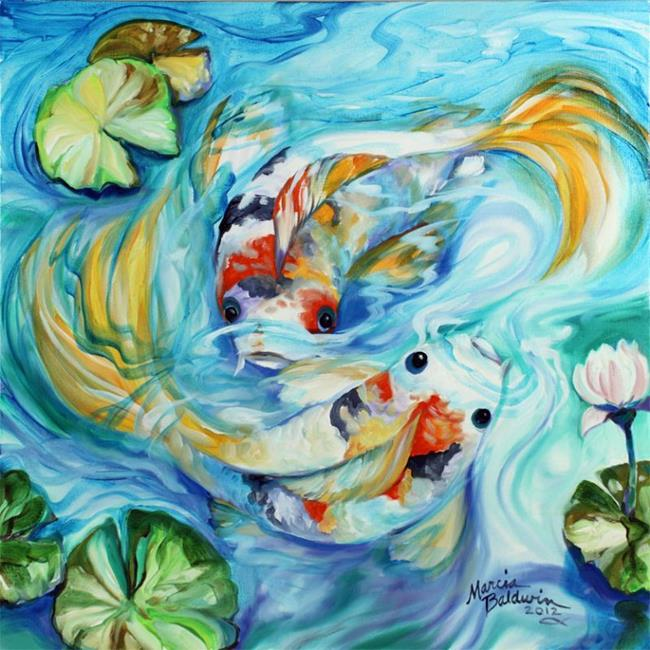 Art: e-TANGO-TWO-KOI-1818-M-BALD.jpg by Artist Marcia Baldwin