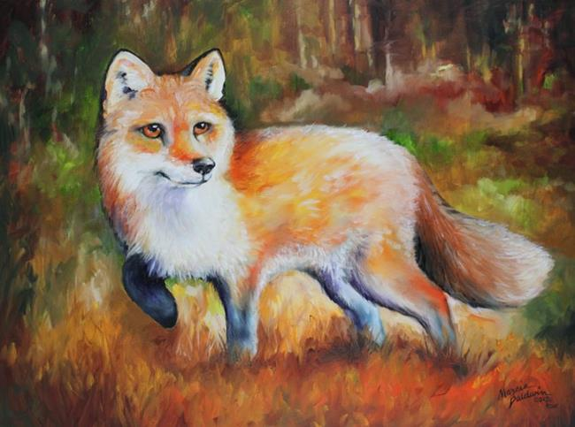 Art: LITTLE RED FOX COMMISSION by Artist Marcia Baldwin
