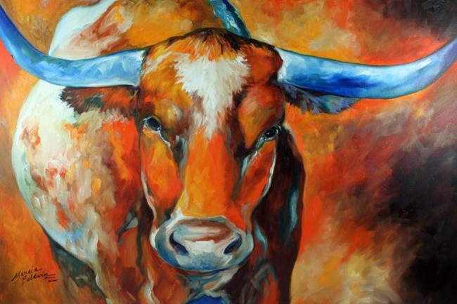 Art: TEXAS LONGHORN COMMISSION by Artist Marcia Baldwin