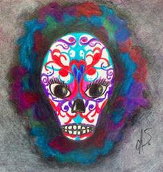 Art: Sugar Skull by Artist christi lynn schwartzkopf