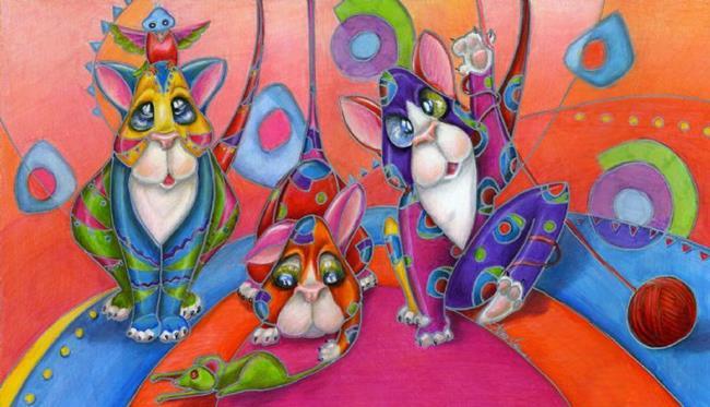 Art: Kittygarden 101 by Artist Alma Lee