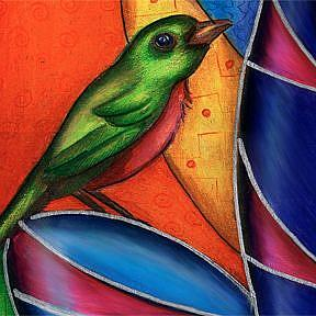 Detail Image for art Kitty Bird Watch (Sold)