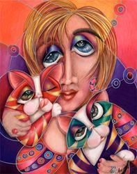 Art: Sibling Rivialry (SOLD) by Artist Alma Lee