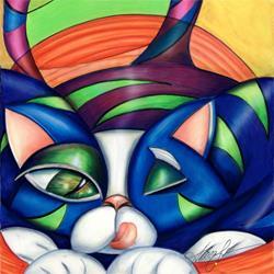 Art: Aris-to-Cat (sold) by Artist Alma Lee