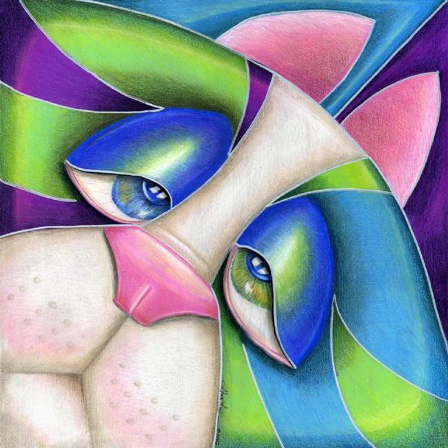 Art: Box Cat Blues (SOLD) by Artist Alma Lee